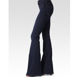 PAIGE High Rise Bell Canyon Flare Dark Wash Jeans